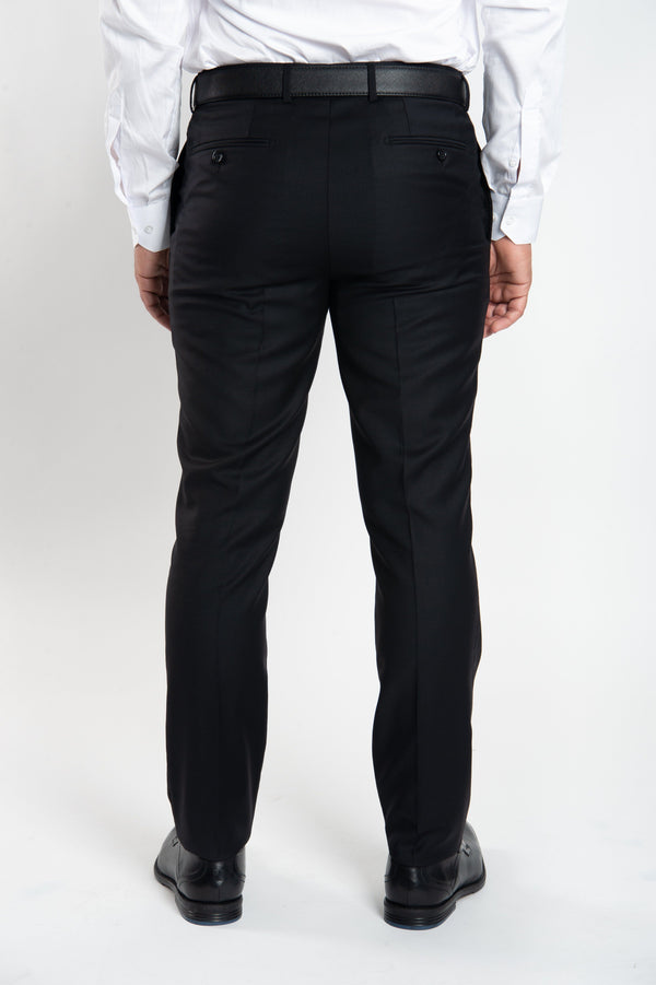 Cosiani Black Wool Cashmere Dress Pants