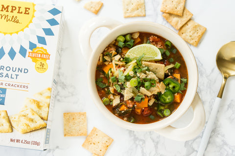 Simple Bean-Free Chilli with Almond Flour Crackers is a recipe for dinner on Wednesday