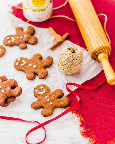 Gingerbread people cookies made with Almond Flour Baking Mix pumkin muffin & Bread