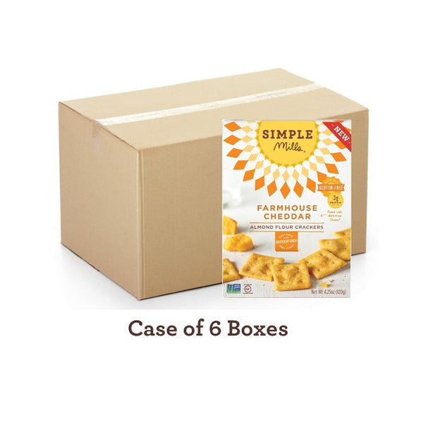 Wholesale Farmhouse Cheddar Almond Flour Crackers