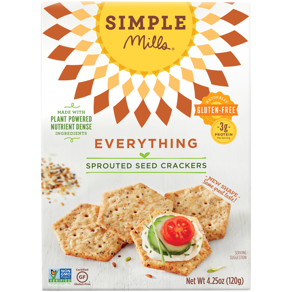 Everything Sprouted Seed Crackers