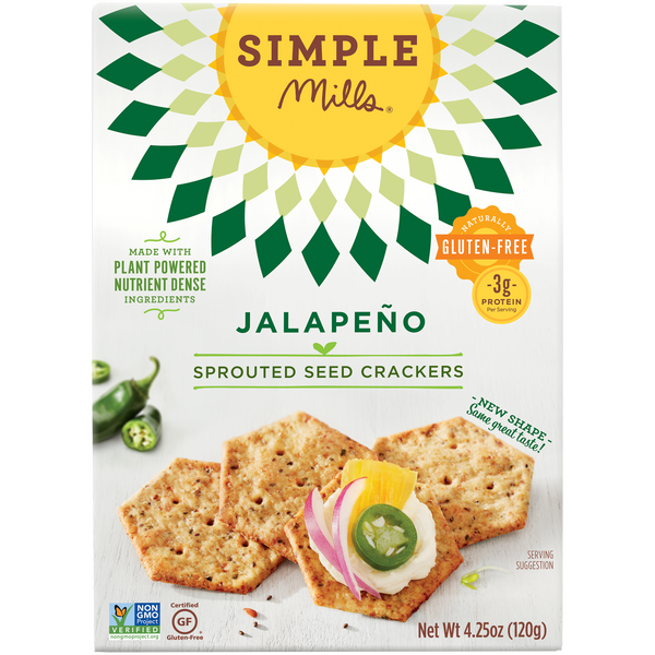 Jalapeño Sprouted Seed Crackers