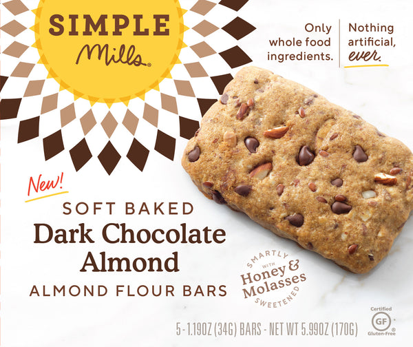 Dark Chocolate Almond Soft Baked Bars