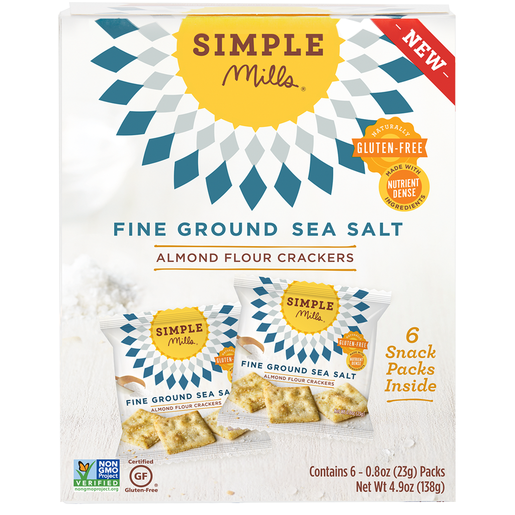 Fine Ground Sea Salt Almond Flour Cracker Snack Pack