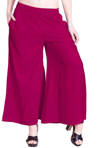 Rani - Women's Palazzo Trousers Wide Legs - One Size : Fits All Adults