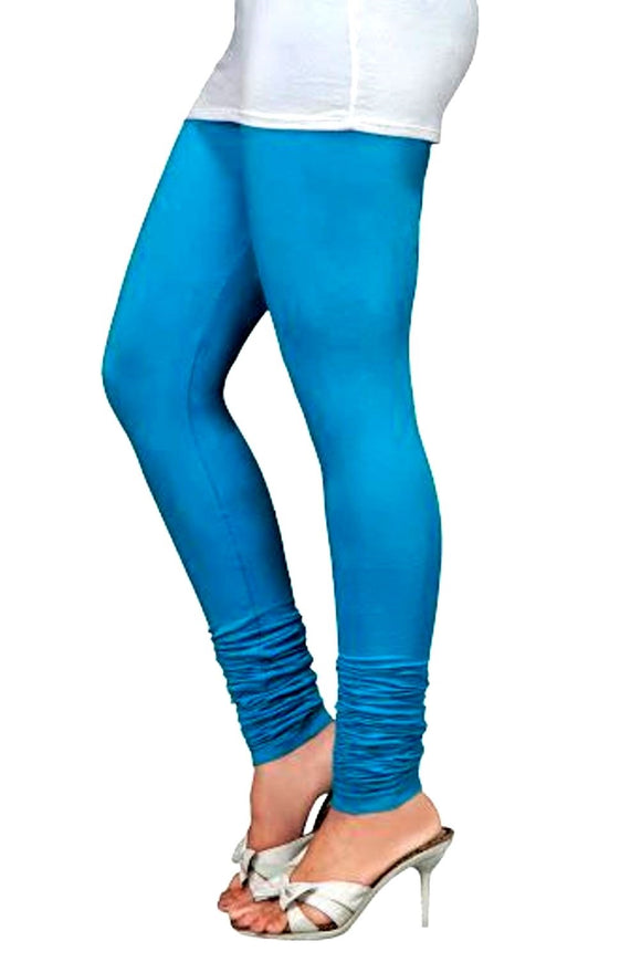 05 TBlue Indian Churidar Legging 4Way Strech One Size : Fits All Adults