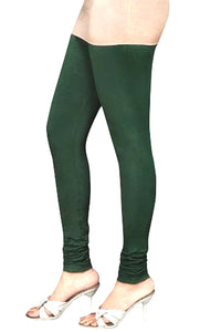 06 Bottle Green Indian Churidar Legging 4Way Strech One Size : Fits All Adults
