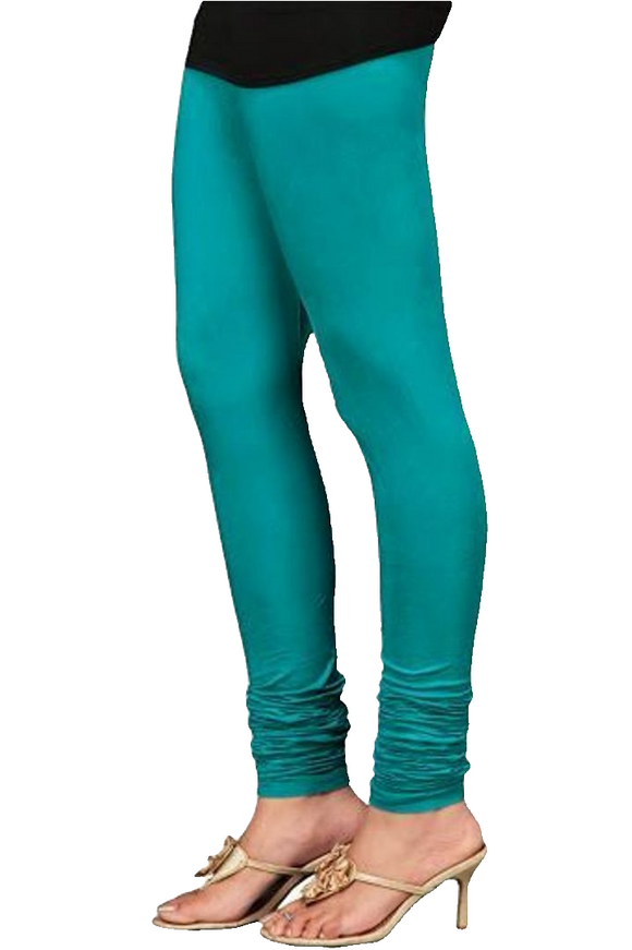 07 MZ Green Indian Churidar Legging 4Way Strech One Size : Fits All Adults