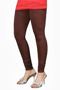 08 Brown Indian Churidar Legging 4Way Strech One Size : Fits All Adults