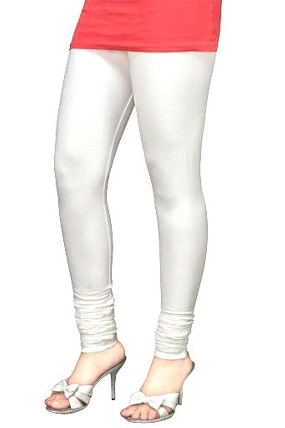 09 Off white Indian Churidar Legging 4Way Strech One Size : Fits All Adults