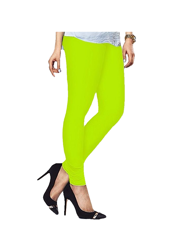 102 Neon Lemon Indian Churidar Legging 4Way Strech One Size : Fits All Adults