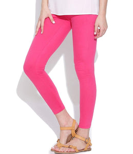 103 Neon Pink Indian Churidar Legging 4Way Strech One Size : Fits All Adults