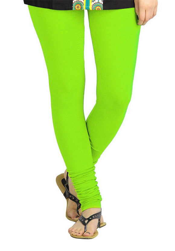 105 Neon Green Indian Churidar Legging 4Way Strech One Size : Fits All Adults