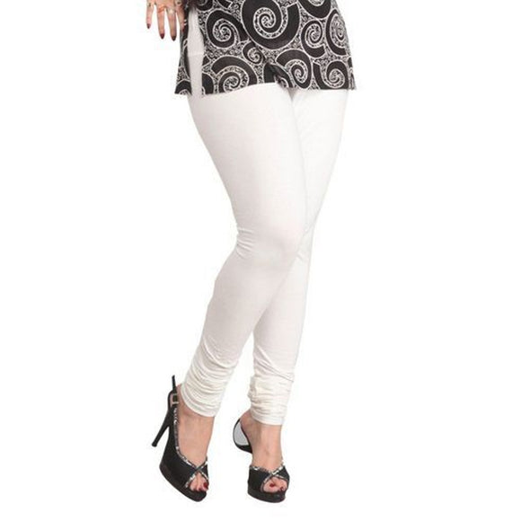10 White Indian Churidar Legging 4Way Strech One Size : Fits All Adults