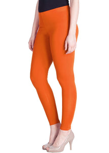 116 Carrot Orange Indian Churidar Legging 4Way Strech One Size : Fits All Adults