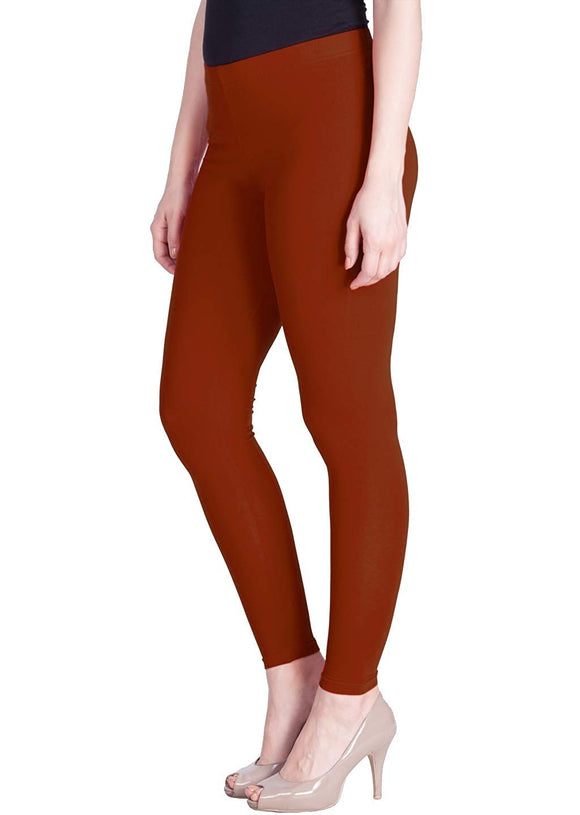 117 Redish Orange Indian Churidar Legging 4Way Strech One Size : Fits All Adults