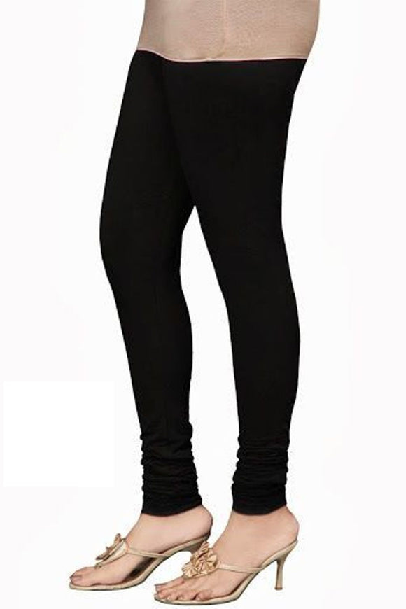 11 Black Indian Churidar Legging 4Way Strech One Size : Fits All Adults