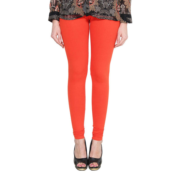 128 Rich Orange Indian Churidar Legging 4Way Strech One Size : Fits All Adults