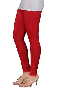 12 Red  Indian Churidar Legging 4Way Strech One Size : Fits All Adults