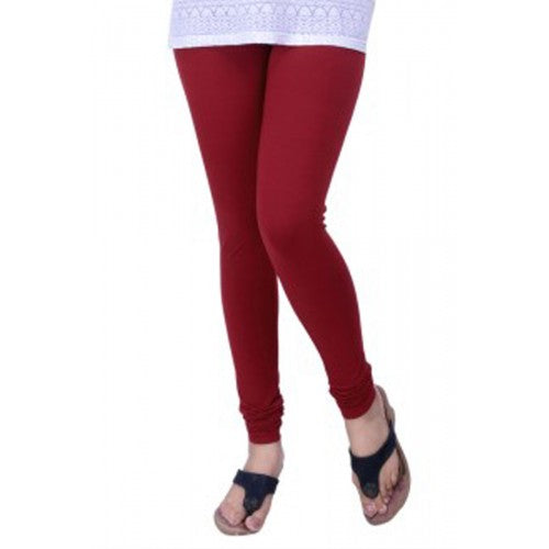 13 Maroon Indian Churidar Legging 4Way Strech One Size : Fits All Adults