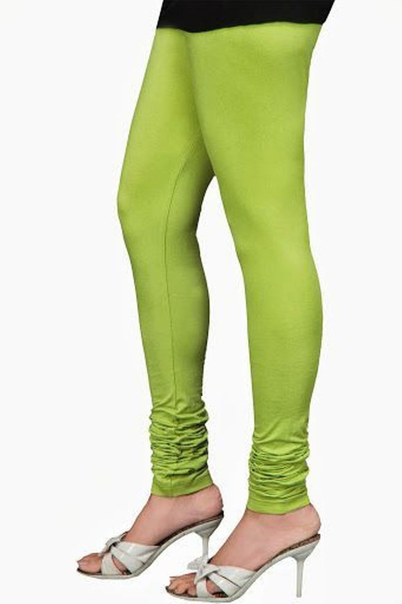 15 Parrot Green Indian Churidar Legging 4Way Strech One Size : Fits All Adults