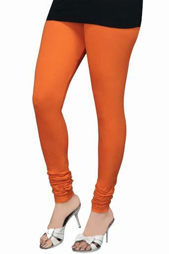 17 Orange Indian Churidar Legging 4Way Strech One Size : Fits All Adults