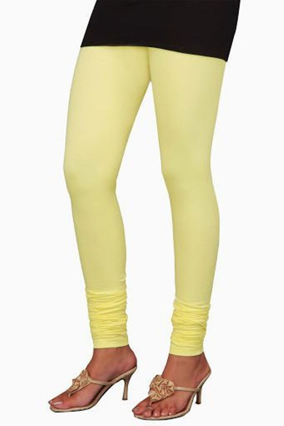 23 Light Lemon Indian Churidar Legging 4Way Strech One Size : Fits All Adults