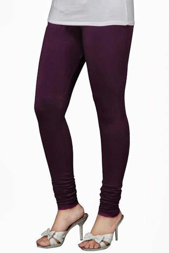 24 M Purple Indian Churidar Legging 4Way Strech One Size : Fits All Adults