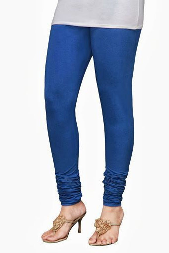 25 True Blue Indian Churidar Legging 4Way Strech One Size : Fits All Adults
