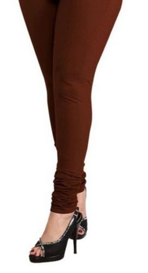 26 M Brown Indian Churidar Legging 4Way Strech One Size : Fits All Adults