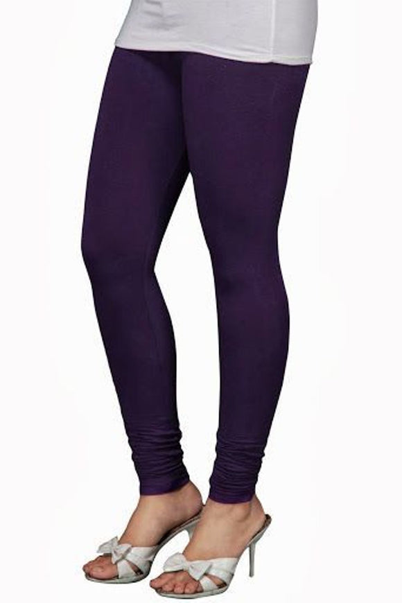 27 Purple Heart  Indian Churidar Legging 4Way Strech One Size : Fits All Adults