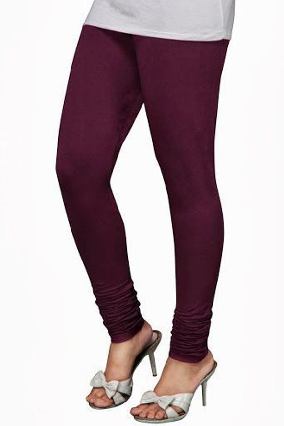 28 Dark Violet  Indian Churidar Legging 4Way Strech One Size : Fits All Adults