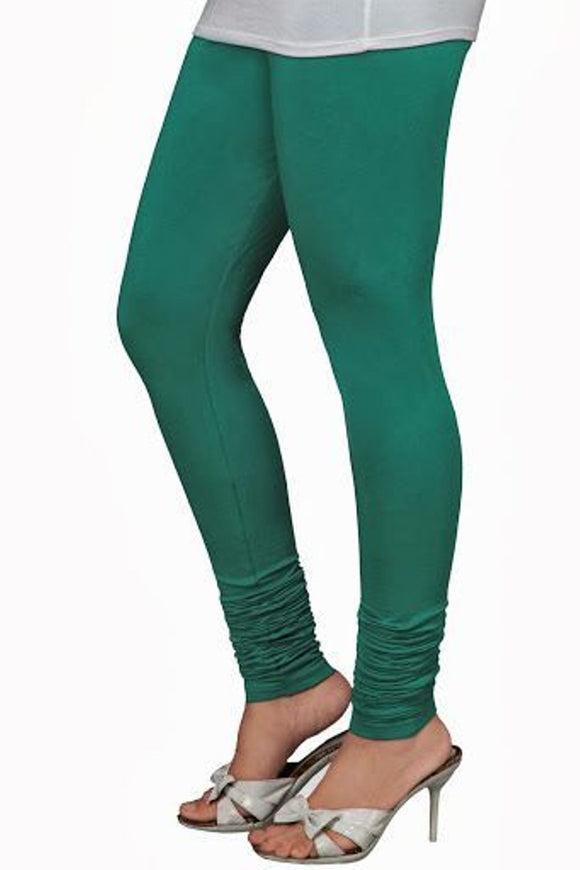 29 DZ Green Indian Churidar Legging 4Way Strech One Size : Fits All Adults