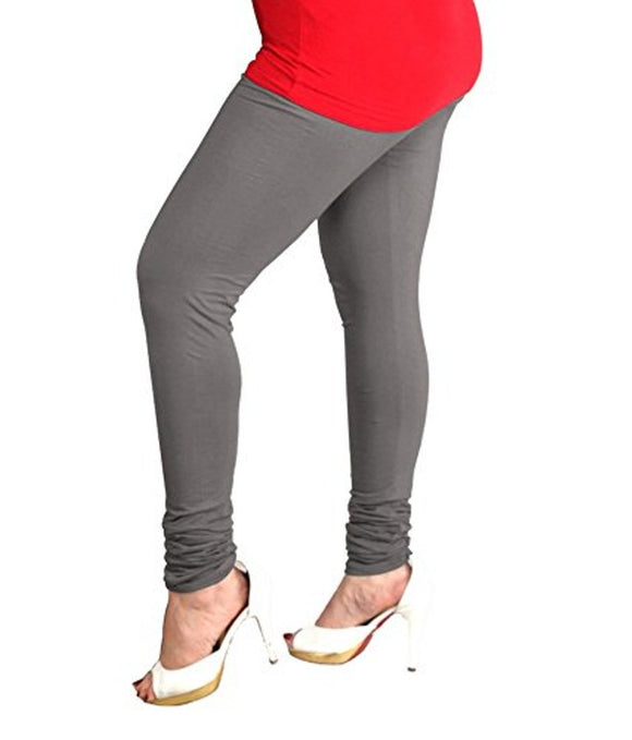 37 Steel Grey Indian Churidar Legging 4Way Strech One Size : Fits All Adults