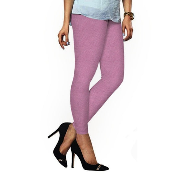 46 Light Rose Indian Churidar Legging 4Way Strech One Size : Fits All Adults