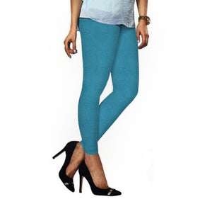 52 Blue Coracao Indian Churidar Legging 4Way Strech One Size : Fits All Adults