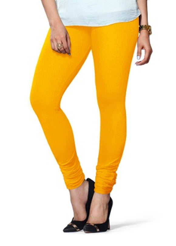 60 Yellow Indian Churidar Legging 4Way Strech One Size : Fits All Adults