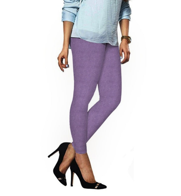 62 Mouving Mauve Indian Churidar Legging 4Way Strech One Size : Fits All Adults