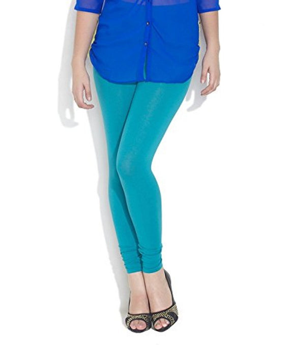 65 Sea Green Indian Churidar Legging 4Way Strech One Size : Fits All Adults