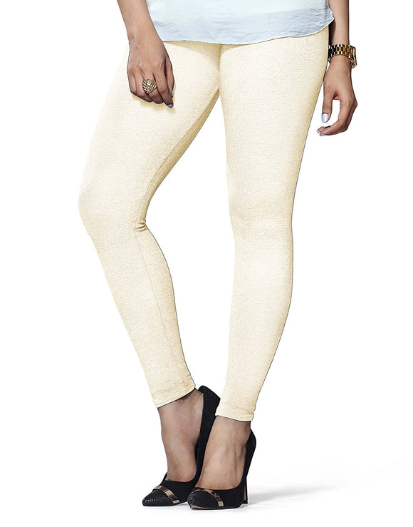 77 Cream Indian Churidar Legging 4Way Strech One Size : Fits All Adults