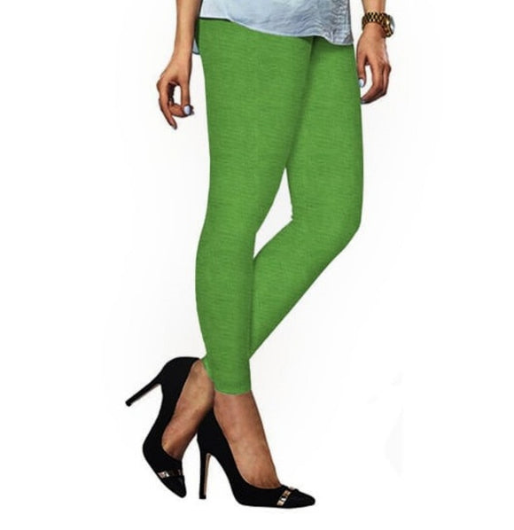 86 Lime Indian Churidar Legging 4Way Strech One Size : Fits All Adults