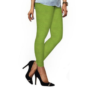 90 Yellow Green Indian Churidar Legging 4Way Strech One Size : Fits All Adults