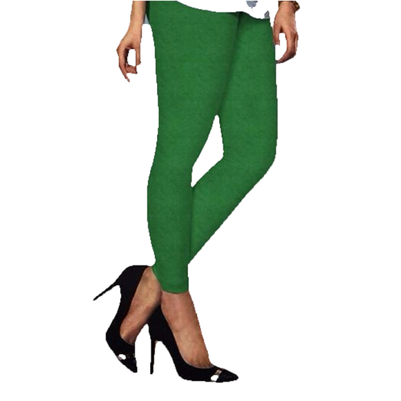 92 Forest Green Indian Churidar Legging 4Way Strech One Size : Fits All Adults