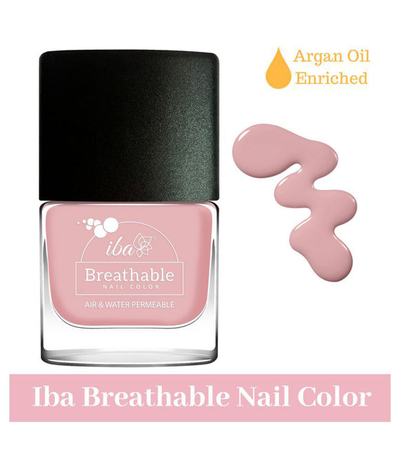 B02 Sweet Blush - IBA Halal Nail Color Polish Breathable Air and Water Permeable Wuzu Friendly