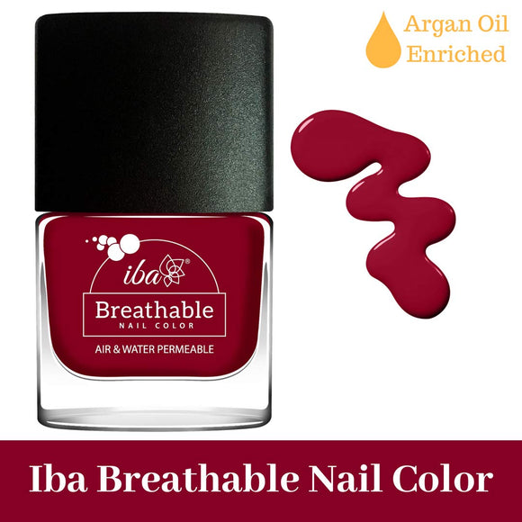 B09 Deep Red - IBA Halal Nail Color Polish Breathable Air and Water Permeable Wuzu Friendly