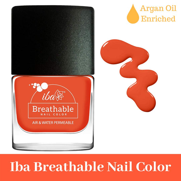 B12 Orange Flames - IBA Halal Nail Color Polish Breathable Air and Water Permeable Wuzu Friendly