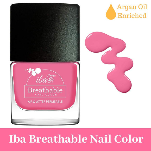 B15 Hot Pink - IBA Halal Nail Color Polish Breathable Air and Water Permeable Wuzu Friendly