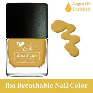 B18 Spicy Mustard - IBA Halal Nail Color Polish Breathable Air and Water Permeable Wuzu Friendly