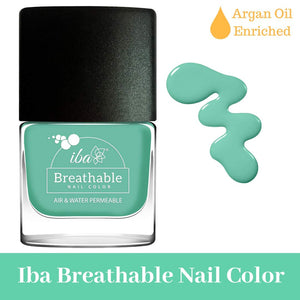 B19 Aqua Swirl - IBA Halal Nail Color Polish Breathable Air and Water Permeable Wuzu Friendly