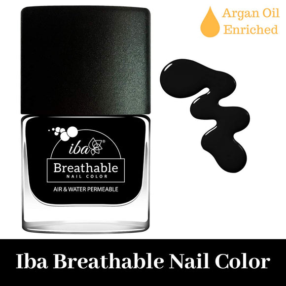 B21 Pristine Black - IBA Halal Nail Color Polish Breathable Air and Water Permeable Wuzu Friendly